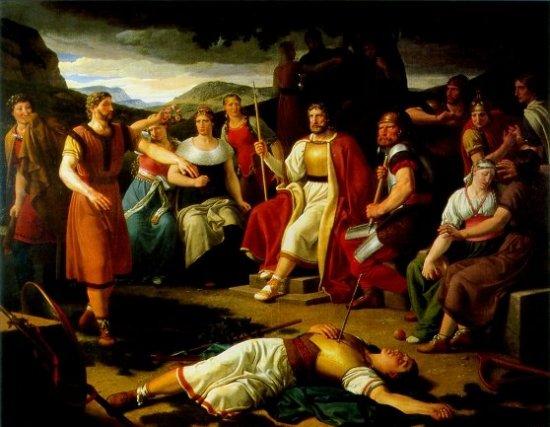 The death of Baldur © germanicmythology.com